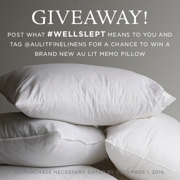 Au Lit Memo Pillow Giveaway - #wellslept