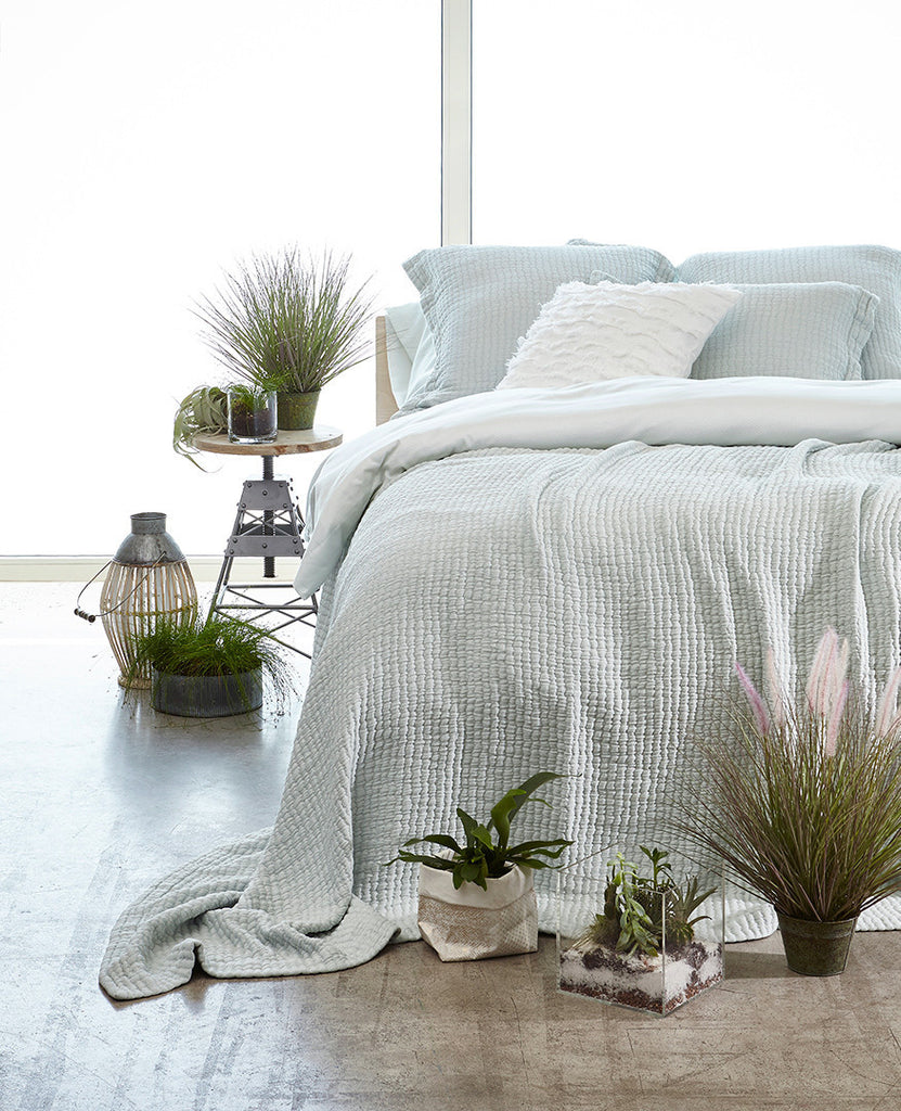 Au Lit Fine Linens: Devon Seaglass Collection