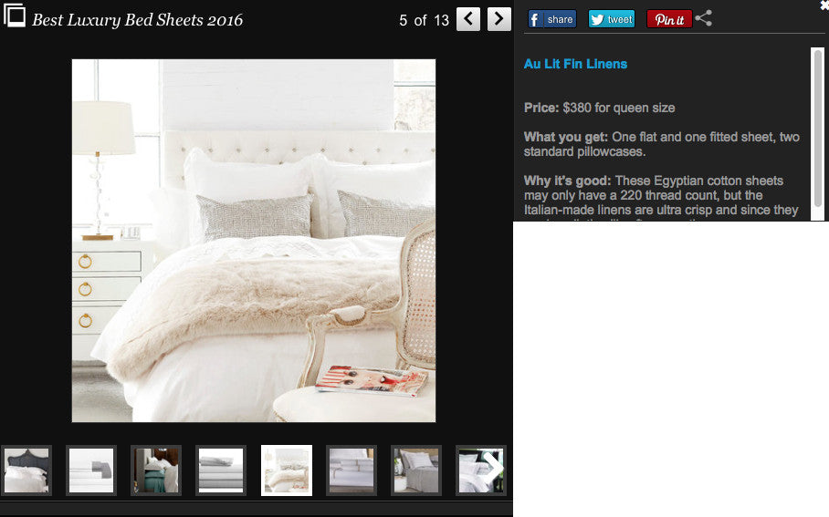 Huffiest Canada: 12 Incredible Luxury Bed Sheets