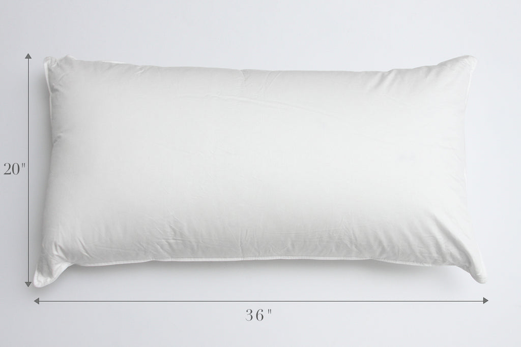 perfect pillow sizes standard queen or king