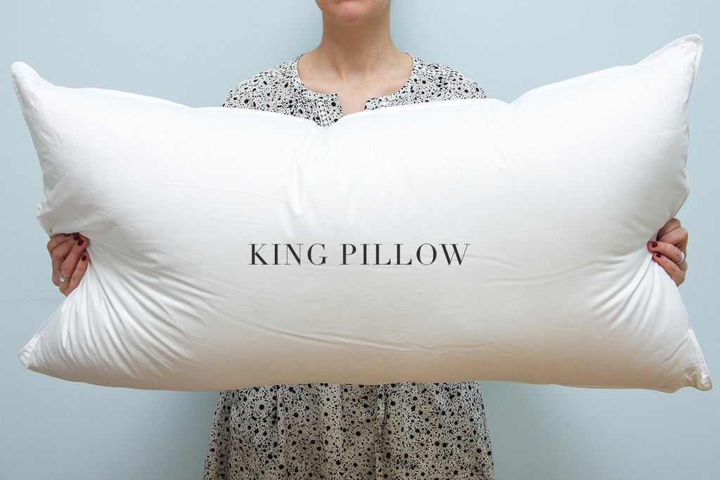 king size pillow case Perfect Pillow Sizes: Standard, Queen, or King? – Au Lit Fine Linens king size pillow case