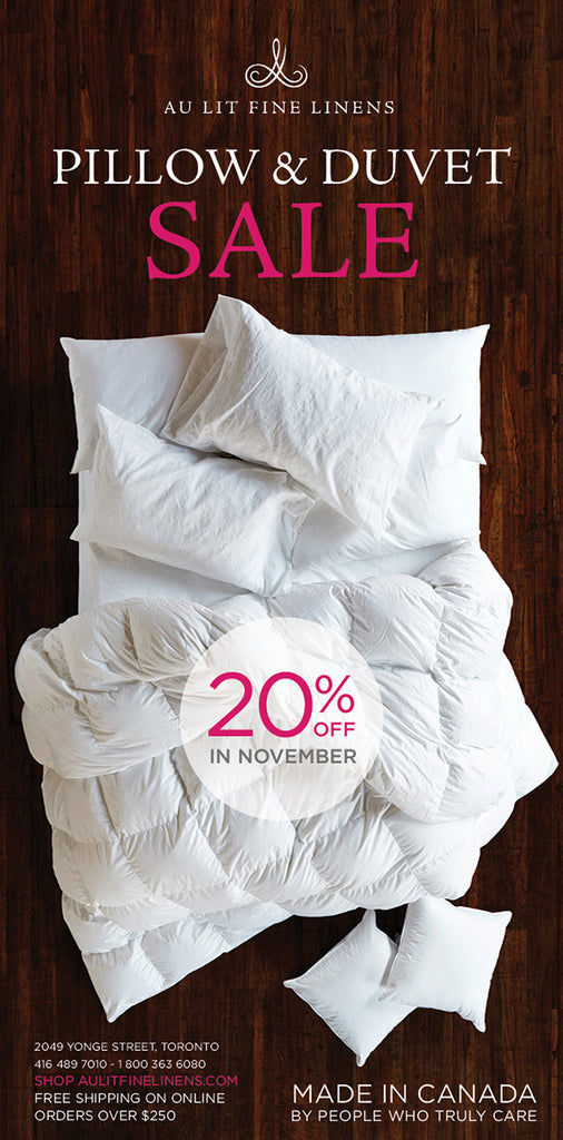 Au Lit Pillow & Duvet Sale