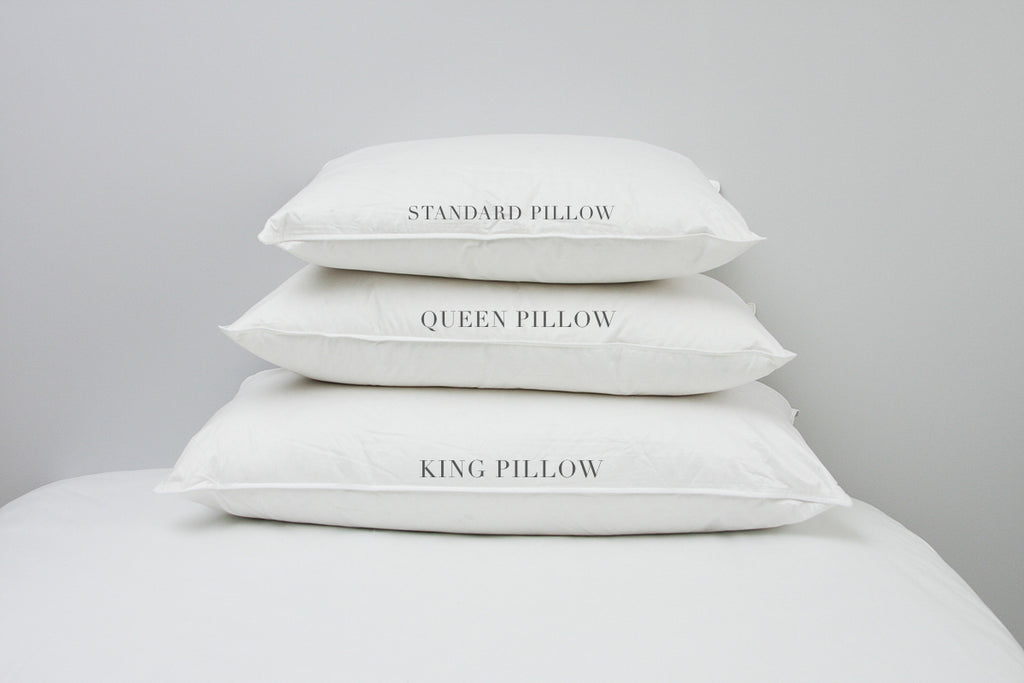 queen bed pillows Perfect Pillow Sizes: Standard, Queen, or King? – Au Lit Fine Linens queen bed pillows
