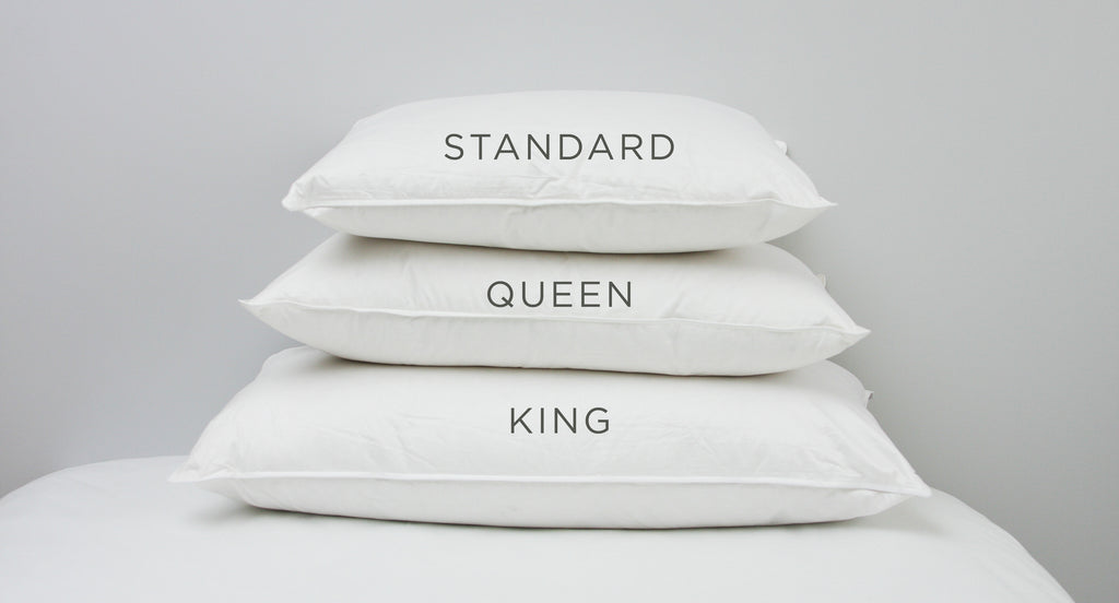 Perfect Pillow Sizes: Standard, Queen, or King | Au Lit Fine
