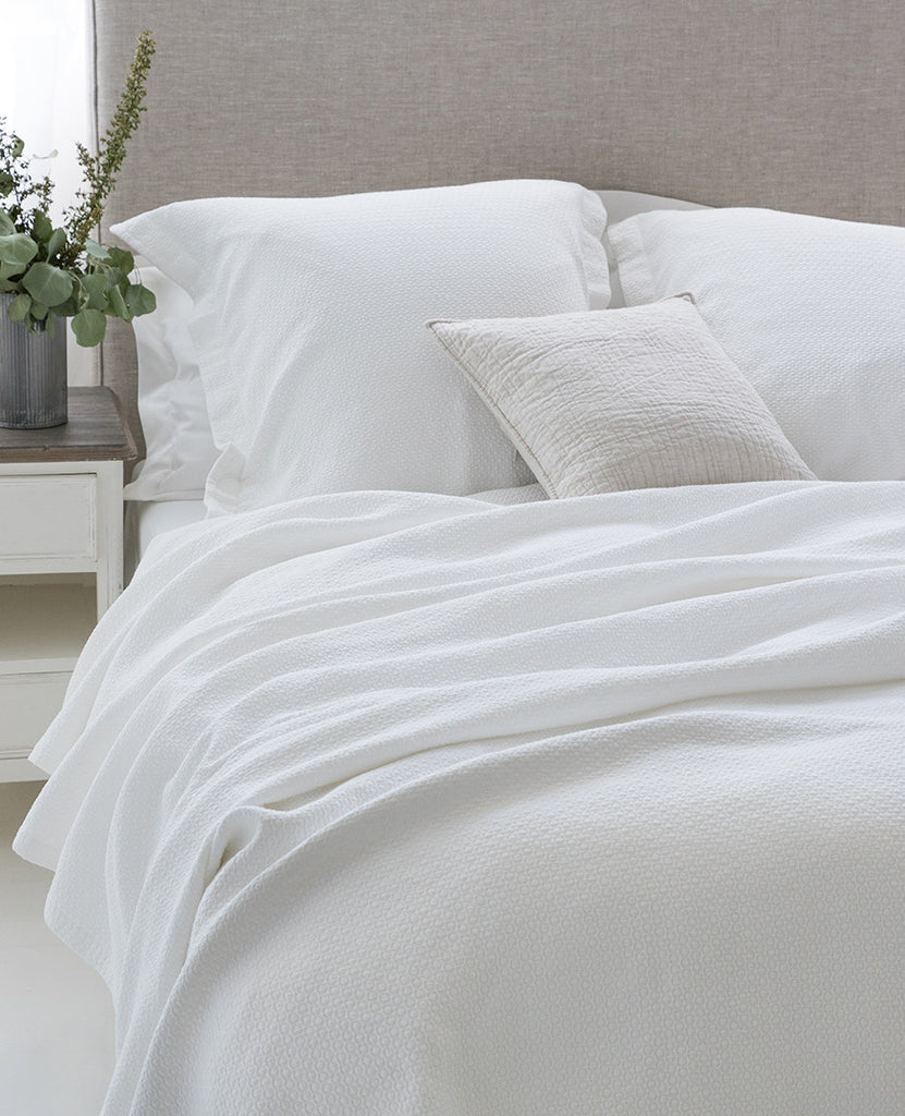 Au Lit Fine Linens: Lavato Sloane Milk Collection