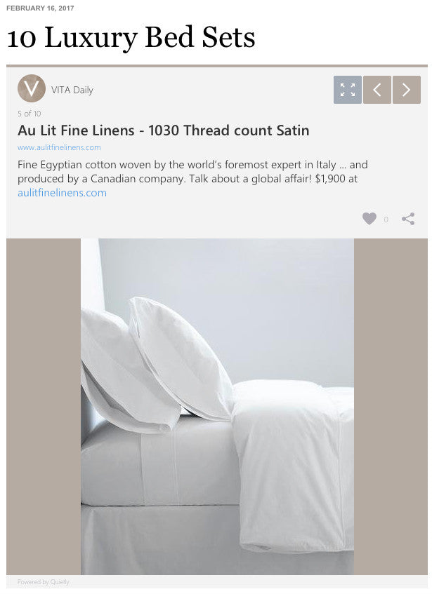 VITA Daily - 10 Luxury Bed Sets