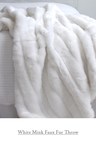 White Mink Faux Fur Throw