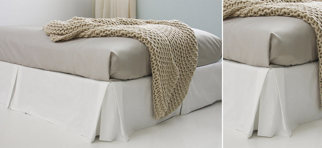 Au Lit Bedskirt: Tailored with Pleats and Closed Corners
