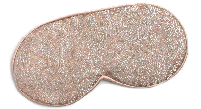Pink Champagne Silk Holiday Eye Mask
