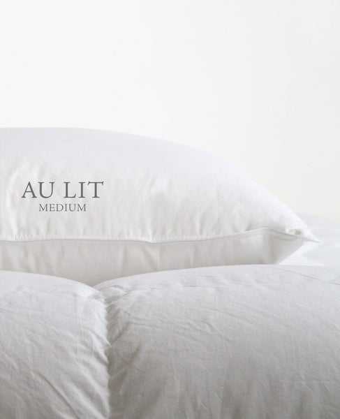 Au Lit Medium Support Goose Down Pillow