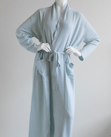 Arlotta Long Cashmere Robe Dawn Blue