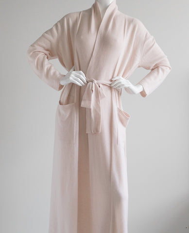 Arlotta Long Cashmere Robe Pink Champagne