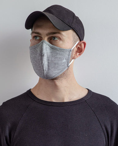 Bamboo Cotton Face Mask Heather Grey