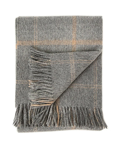 Awenda Charcoal/Tan Throw