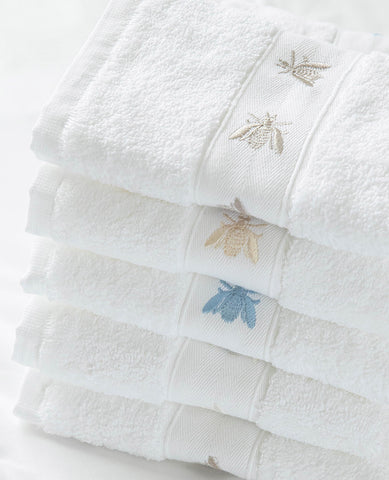 Bee Embroidered Guest Towel