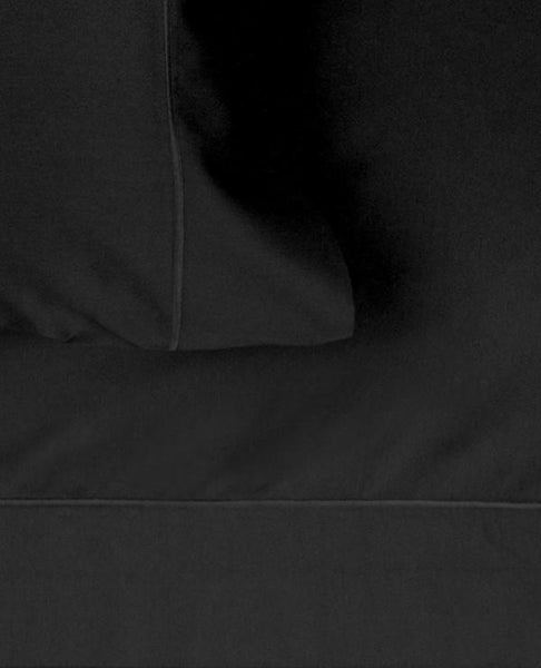 320 Thread Count Cotton Satin Black