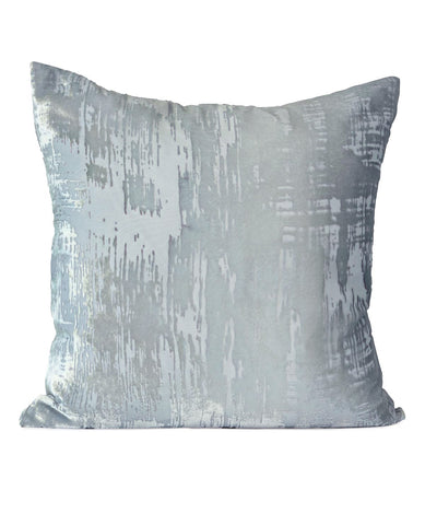 Brushstroke Velvet Cushion Mineral