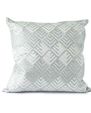 Zigzag Mist Embroidered Cushion