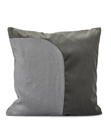 Felix Grey Linen/Velvet Cushion