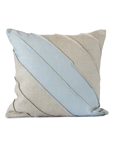 Westend Flax/Airforce Linen Cushion
