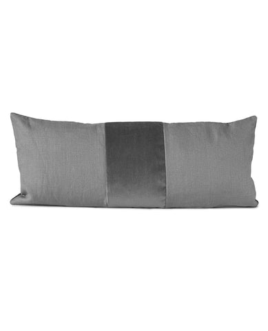 Ming Grey Linen/Velvet Cushion