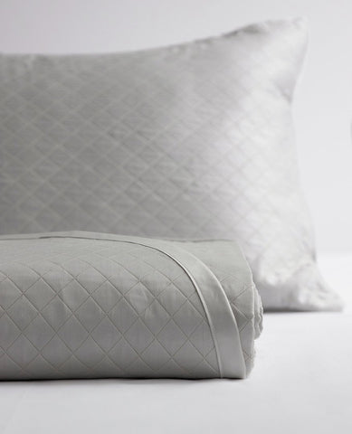 diamante quilted grey
