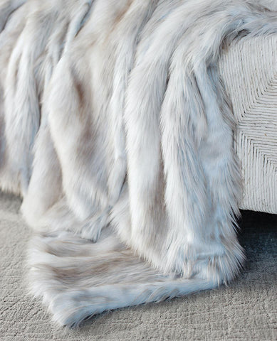 Siberian Fox Faux Fur Throw - Limited Edition