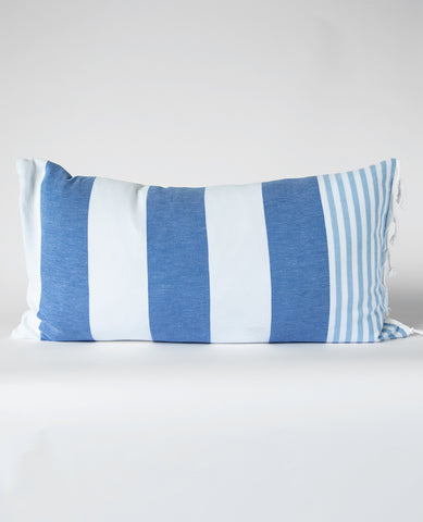 Fouta Pillow Ladon Royal Blue/Sky Stripe