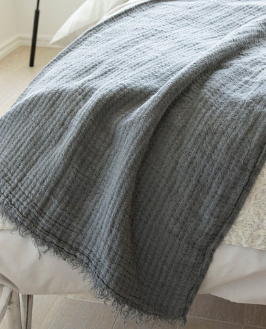 Hampton Grey Throw