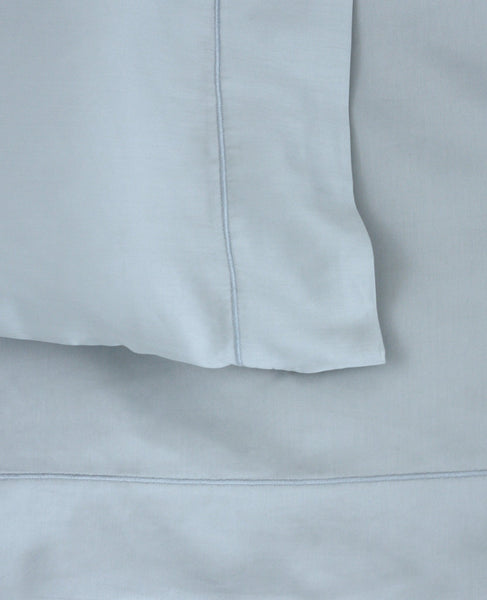 320 Thread Count Cotton Satin Mineral Blue