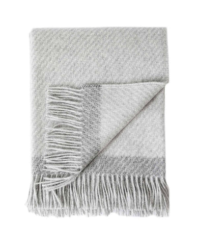 Kilarney Light Grey/Charcoal Throw