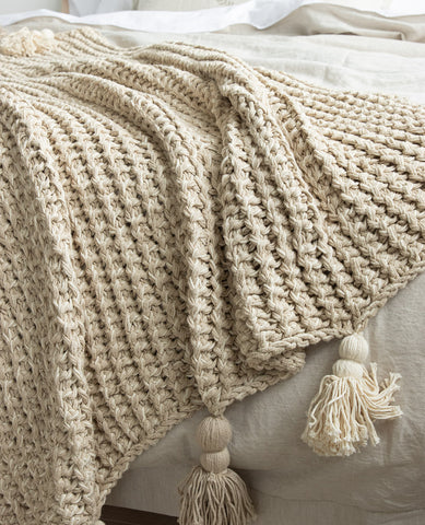 Lawrence Chunky Throw Natural