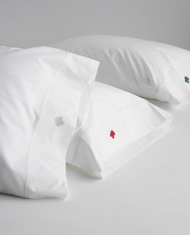 Maple Leaf Embroidered Pillow Cases