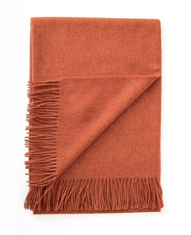 Paris Baby Alpaca Tangerine Melange Throw