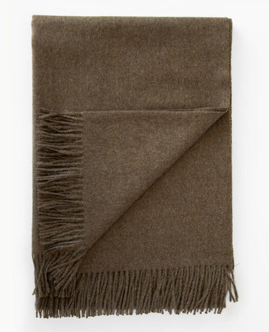 Paris Baby Alpaca Wood Bark Melange Throw