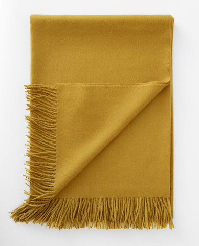 Paris Baby Alpaca Mustard Melange Throw