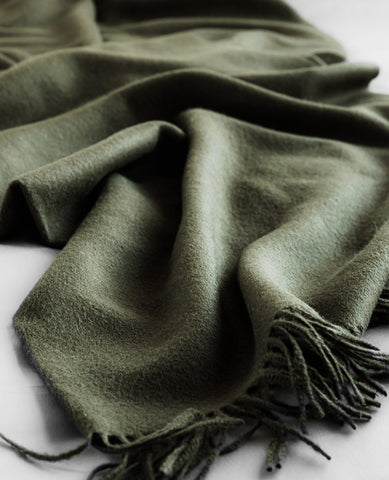 Paris Baby Alpaca Olive Melange Throw