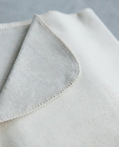 reversible cotton blanket pearl