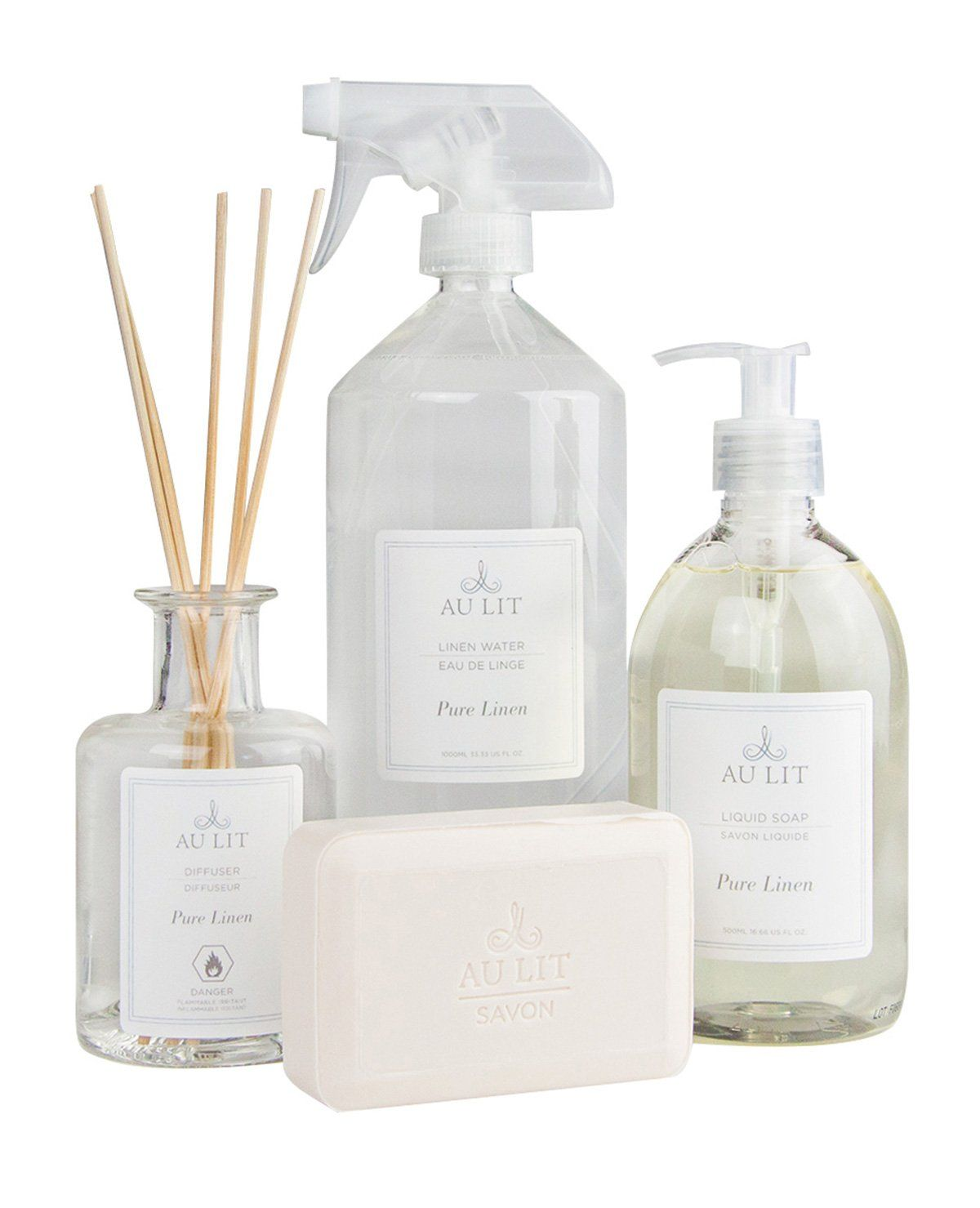 Pure Linen Scented Bath Set With Linen Water Au Lit Fine Linens
