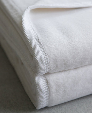 sferra plush blanket white