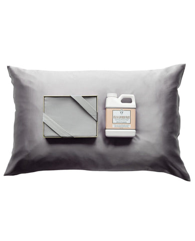 Silk Pillow Case + Silk Wash Set