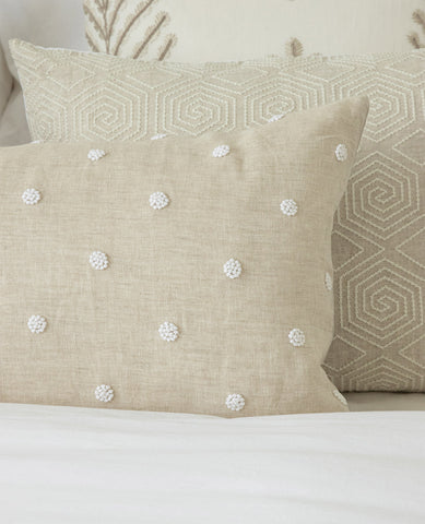Suzanne Dimma x Au Lit French Knot Natural Pillow