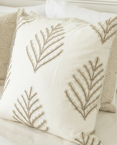 Suzanne Dimma x Au Lit Treen Ivory Pillow
