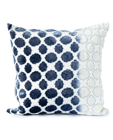Tile Velvet Cushion Azul Blue