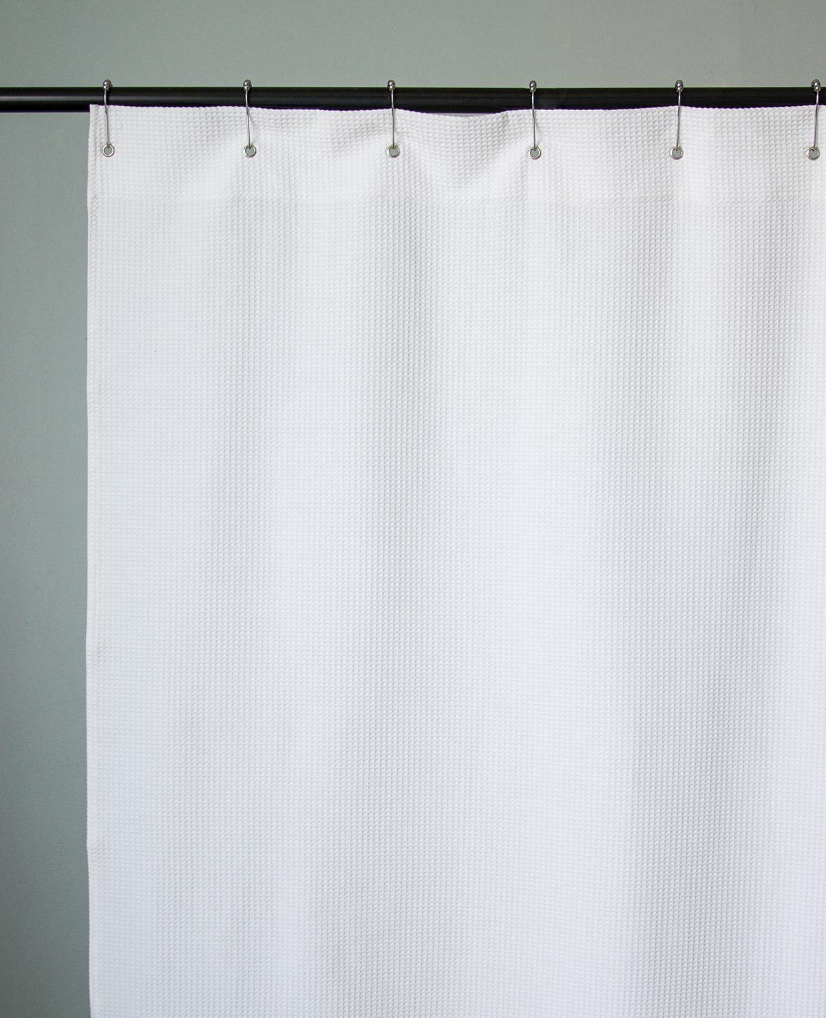Essential Small Waffle Shower Curtain Au Lit Fine Linens