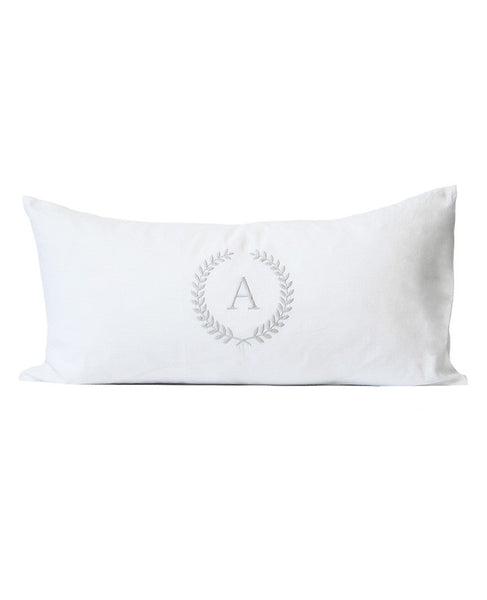 Lavato Wreath Monogram Cushion