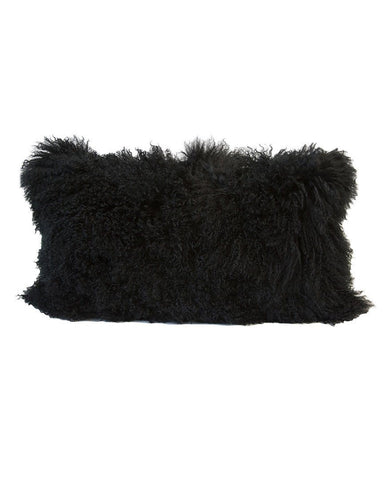 tibetan black fur cushion
