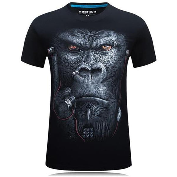 Men's 3D Ape T-Shirt - tntonlife.com