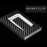 Fashion Sliding Fan Carbon Fiber Wallet - tntonlife.com