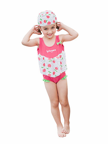 Kingswell Girls Float Suit with Removable Buoyancy Float